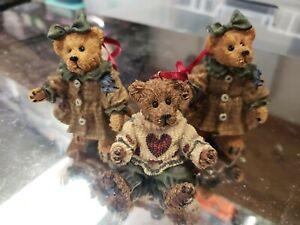 "Boyds Bears & Friends 3 TBC 1997 Ornaments (""3)"