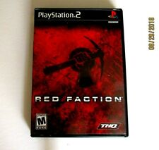 RED FACTION Play Station 2 [2002] COMPLETE: USED, TESTED-VERY GOOD