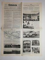 N1028 La Une Du Journal omnia août 1931  pneumatique de chemin de fer réalisé