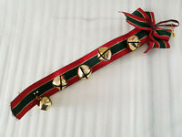 ARCTIC SLEIGH BELLS HAND MADE GENUINE LEATHER STRAP HANGER DOOR BY RANCH LAND