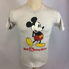Vintage 80s Walt Disney Mickey Mouse Epcot Center T Shirt USA Gray Disney World