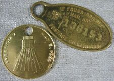 2 Vintage Key Chains Space Capsule Freedom 7 1961 Credit Card Sentinel L.A., CA
