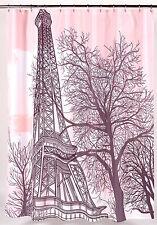 "Tour Eiffel Heavier Weight Fabric shower curtain, 100% polyester, size 70""x72"