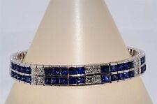 $30,000 24.19CT NATURAL CEYLON BLUE SAPPHIRE & DIAMOND BRACELET VS 18K WG