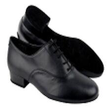 Very Fine Dance Shoes Men's Black Leather Ballroom Dance Shoe in size 8.5