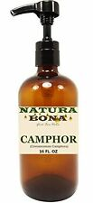 Organic Camphor Pure Essential Oil 16 oz Amber Glass Pump Dispensing Bottle (...