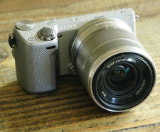 Sony Alpha NEX-5R 16.1MP Digital Camera and Kit Lens Silver Excellent Condition