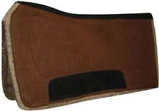 "Showman 32"" x 32"" BROWN Contoured Western Saddle Pad w/ Felt Bottom! HORSE TACK!"
