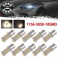 10X Warm White1156 BA15S 18SMD Back Up LED Interior Light Bulbs 1073 1141 12V
