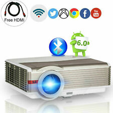 New Listing8000Lms Wifi Blue-tooth Projector Home Theater Android 6.0 Hd Airplay Netflix Us