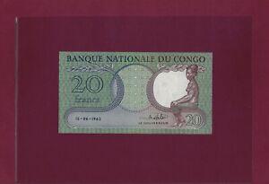 Congo Democratic Republic 20 Francs 15 - 06 - 1962 P-4 UNC