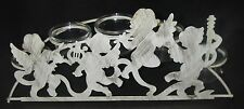 Candle Holder Metal Mythical Cherubs/Fairies 5 Glass Votive Candleholders