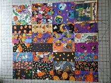 """Lot 28 Vintage Quilt Cotton Halloween Charm Squares  6.5"""""""