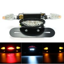 Motorcycle LED Rear Tail Brake Stop Turn Indicator Light with License Plate Brac