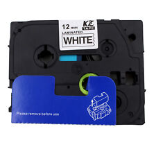 Black on White Label Tape for Brother P-Touch 1960 2030 2100 2110 2200