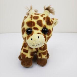 """Ty Peaches Giraffe Velvety Plush Stuffed Animal Brown Yellow 7"""" 2017"""