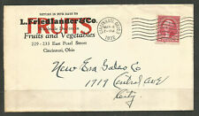 OSBURGH - USA / OHIO. 1932. COVER. CINCINNATI. L FRIEDLANDER & Co FRUIT AND VEGE