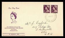 1953 AUSTRALIA FDC QEII CACHET PAIR LONSDALE