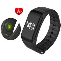 Fitness Activity Tracker Sports Bracelet Wristband Pedometer Smart Band Black