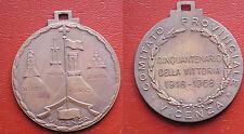 MEDAGLIA 1918/68 VITTORIA PRIMA GUERRA MONDIALE COMITATO PROVINCIALE VICENZA  #1