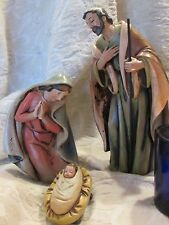 3 Piece Holy Family Set Resin Simple Lines Beautiful Color