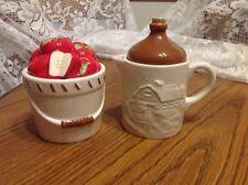 Chestnut Creek Houston Harvest, Apple Basket Sugar  & Jug Creamer, 2004, unused