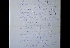 Lettre du prix Goncourt Maurice Bedel lors de son grand périple africain.