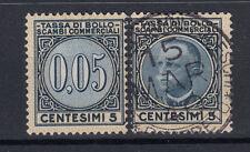 1929 VITTORIO EMANUELE III MARCHE DA BOLLO LUSSO E SCAMBI 5 CENT. ANNULLATA