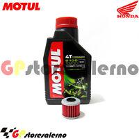 TAGLIANDO OLIO + FILTRO MOTUL 5100 10W30 HONDA 450 TRX ER 2009