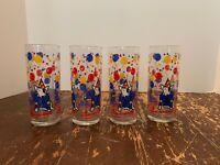 Vintage 1987 Anheuser Busch Bud Light Beer Spuds MacKenzie Glass Set Of 4