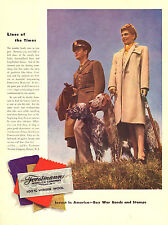 1942 vintage Ad Forstmann Woolen Clothing Soldier Wife & English Setters 100415