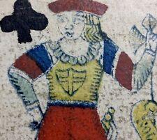 18th Century Faustino Solesio Genova Italy Historic Playing Cards Artisan Single