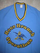 Vintage Anheuser Busch Beer Brewery Baseball Uniform Jersey Shirt USED LARGE L