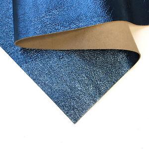 BLUE Metallic Leather Sheet 8x10in/20x25cm Shiny Genuine Leather Scraps BLUE VI