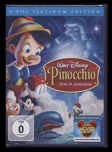 DVD WALT DISNEY - PINOCCHIO - PLATINUM EDITION - 2 DISC SET ZUM 70. JUBILÄUM NEU