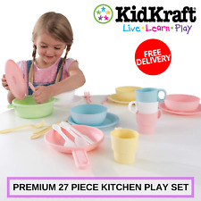 Premium 27 Piece Kitchen Play Set For Kids To Play Cooking Kidkraft Cookware Set