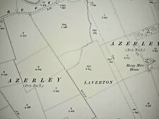 Old Antique Ordnance Map 1909 Yorkshire CXVIII.2 Laverton & Greygarth ...