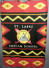 St. Labre Indian School Light Poly Fleece Blanket Throw Logo Design 34 x 49