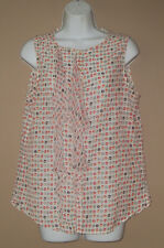 Womens Gap Size Medium Sleeveless Summer Fashion Lip Print Blouse Top Shirt