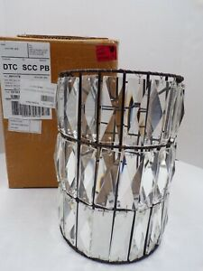 Pottery Barn Classic Adeline Shade Crystal Faceted Bronze Finish #21