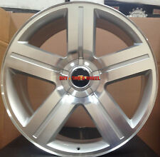 24 Chevy Texas Edition Rims Silverado Silver Wheels GMC Replica Sierra Tahoe 26