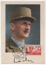 1951 ALGIERS ALGERIA PC Postcard GENERAL LECLERC France FRENCH Military CANCELS