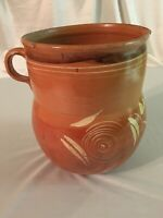 Large Pitcher Vintage Mexican Redware Pottery Pre-owned
