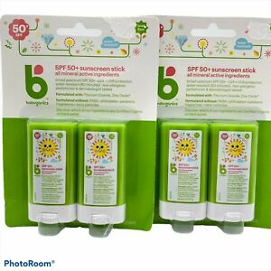 Babyganics spf 50+ sunscreen sticks mineral active water resistant travel size