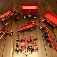 HUGE Lot: Vtg ERTL 1/16 International Toy Farm Tractor Farmall 806 Disc Gravity