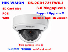 Hikvision Original english DS-2CD1731FWD-I 3MP IP CCTV2.8~12mm vari-focal camera