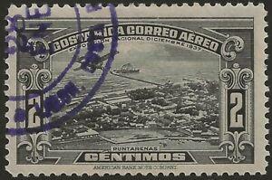 Costa Rica Exposición Nacional Diciembre 1937 Air Mail Sc C31 CTO OG LH