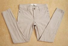 NEW Abercrombie Womens Skinny Jeans Size 6 High Rise Pants Ornate Design Beige