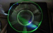 Joseph Inwald Float Bowl For Poisson Volant Art Deco Uranium Glass