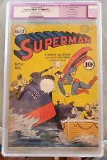 Superman # 13 vol 1 1941 CGC Restored Grade app FN/VF. Lex Luthor app.  Free S&H